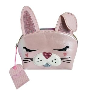 🆕OMG Accessories Bunny Face Cosmetic Bag